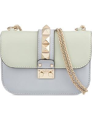 VALENTINO Rockstud pastel leather cross-body bag