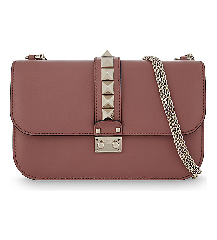 VALENTINO Rockstud leather cross-body bag (Antico