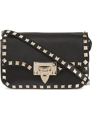 VALENTINO Rockstud small leather messenger bag