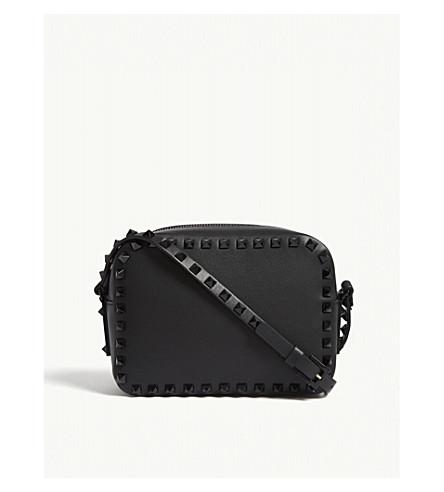 VALENTINO Rockstud leather cross-body bag (Black black