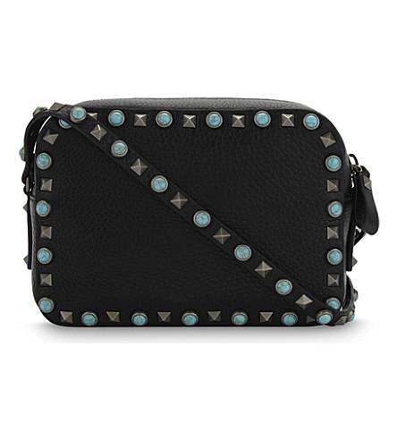 VALENTINO Native Couture leather camera cross-body bag (Black