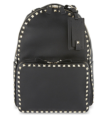 VALENTINO Rockstud leather backpack (Black