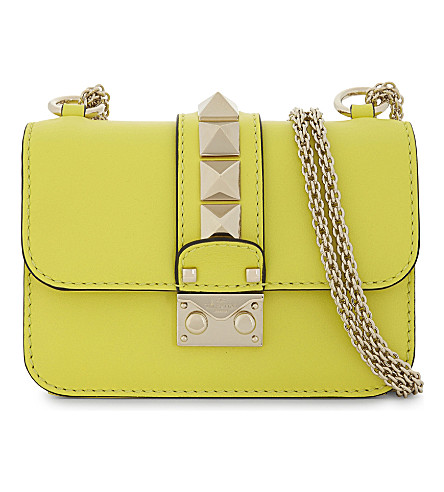 VALENTINO - Rockstud Lock mini leather shoulder bag | Selfridges.com