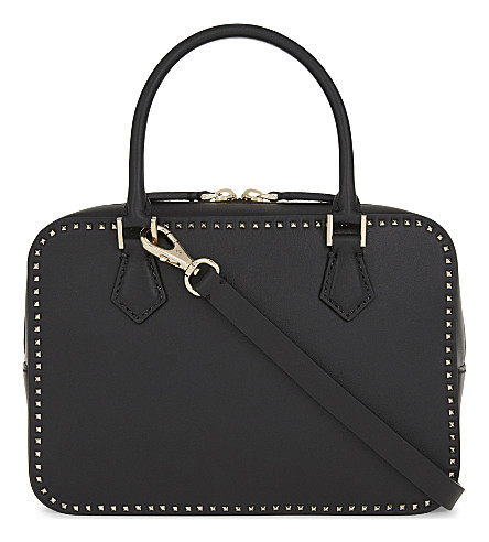 VALENTINO Rockstud leather shoulder bag (Black