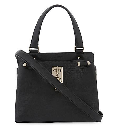VALENTINO Piper small grained leather shoulder bag (Black