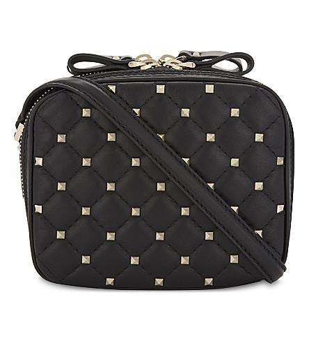 VALENTINO Rockstud leather camera bag (Black