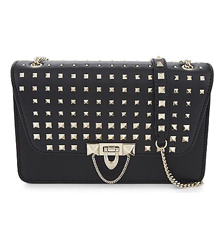 VALENTINO Demi lune small leather cross-body bag (Black