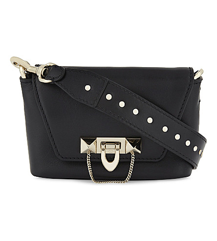 VALENTINO Demi Lune leather shoulder bag (Black