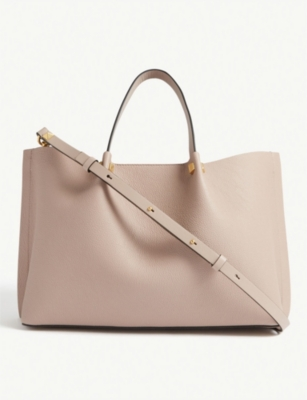 Top handle leather tote bag(7968639)