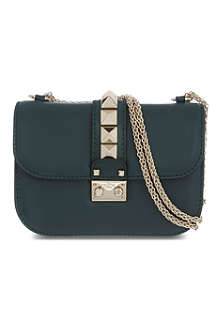 VALENTINO Lock stud leather shoulder bag