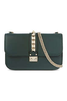 VALENTINO Stud lock medium shoulder bag