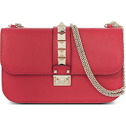 VALENTINO Stud lock medium shoulder bag (Cyclamin