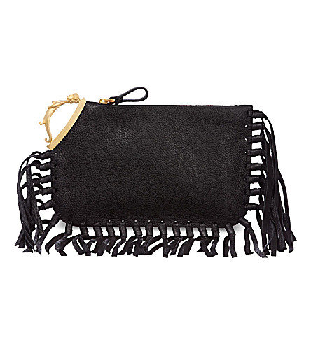 VALENTINO Gemini finger clutch (Black
