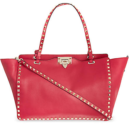 VALENTINO Studded medium tote (Cyclamin