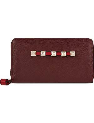 VALENTINO Studded zip wallet