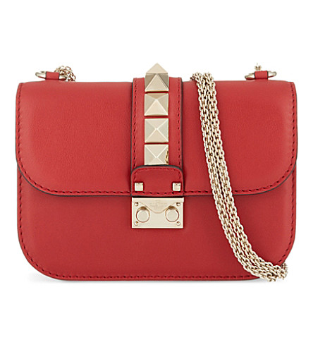 VALENTINO Lock stud small shoulder bag (Red+valentino