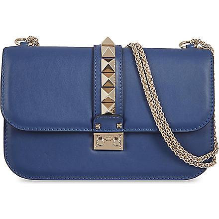 VALENTINO Stud lock medium shoulder bag (Indigo