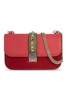 VALENTINO Leather studded clutch