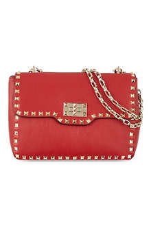 VALENTINO Turnlock medium leather shoulder bag