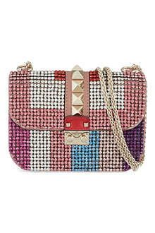 VALENTINO Crystal studded cross body bag