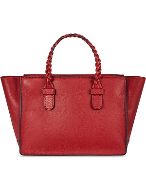 VALENTINO Braided leather tote bag