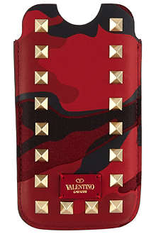VALENTINO Camo stud iPhone case