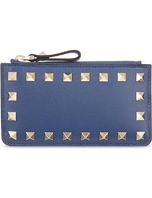 VALENTINO Studded zip card holder