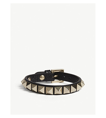 VALENTINO Valentino Rockstud small leather bracelet (Black