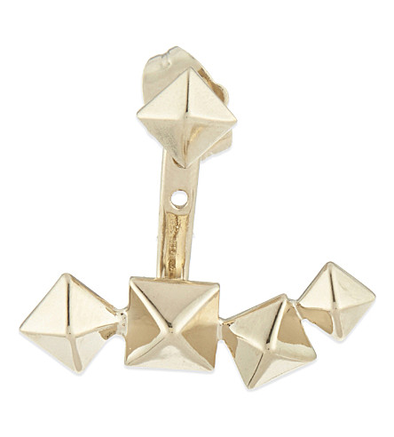 VALENTINO Rockstud single stud earring (Platinum