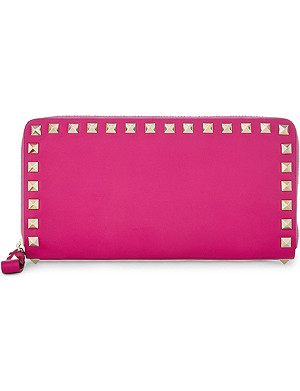 VALENTINO Rockstud zipped leather wallet