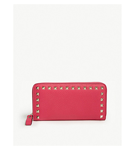 VALENTINO Valentino Rockstud small leather continental wallet (Disco+pink