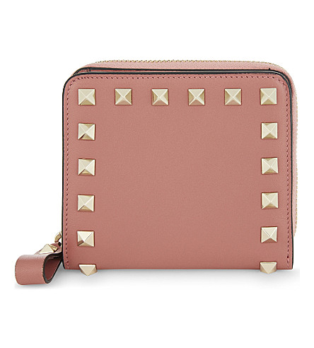 VALENTINO Rockstud mini leather purse (Antico