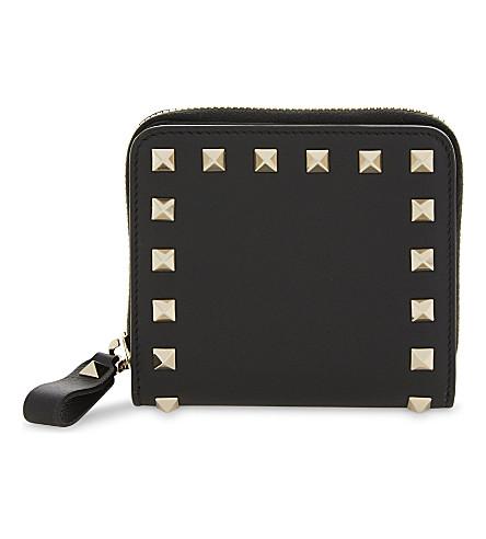 VALENTINO Rockstud mini leather purse (Black
