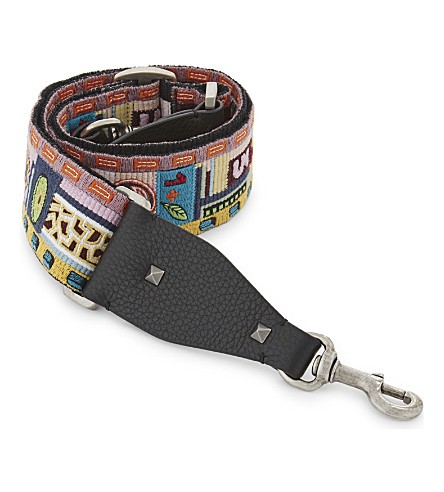 VALENTINO Pop flower guitar strap (Multi