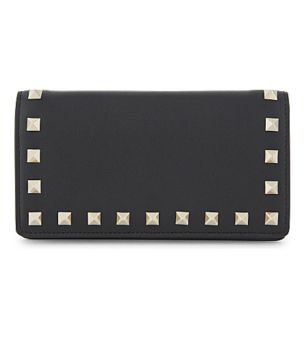 VALENTINO Rockstud leather wallet (Black