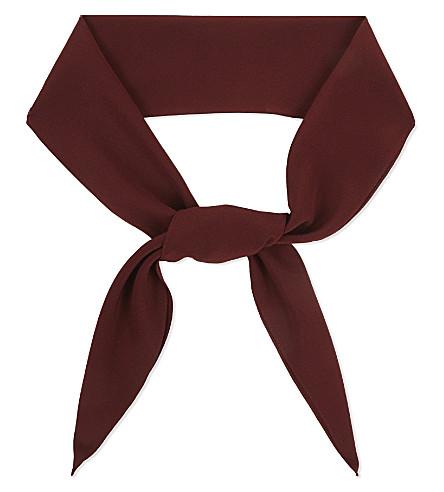 CHLOE Crepe silk scarf (Burgundy