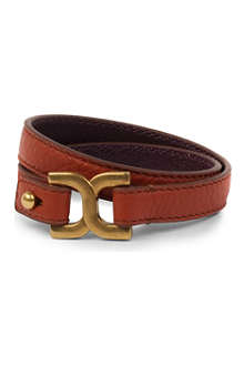 CHLOE Marcie double leather bracelet