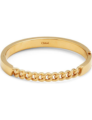 CHLOE Carly gold-toned chain-link bracelet