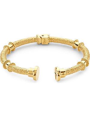 CHLOE Frankie textured brass screw cuff