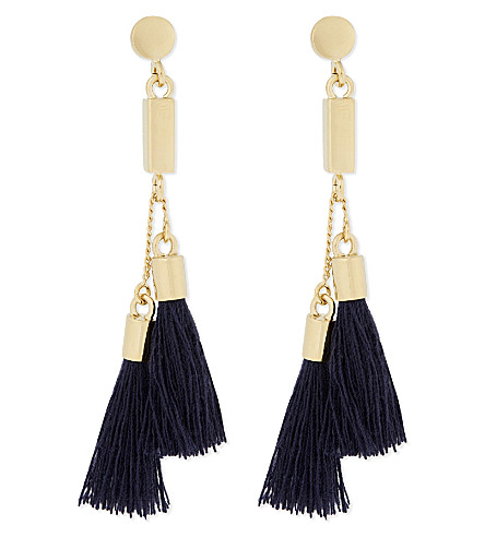 CHLOE Tasseled earrings (Navy