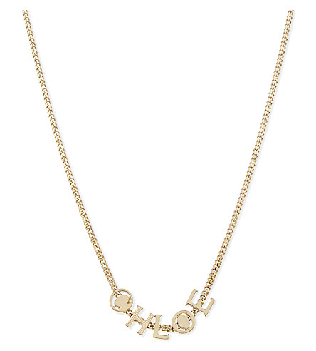 CHLOE Charm necklace (Gold