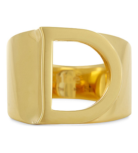 CHLOE Alphabet D ring (Gold