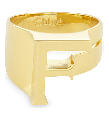 CHLOE Alphabet F ring (Gold