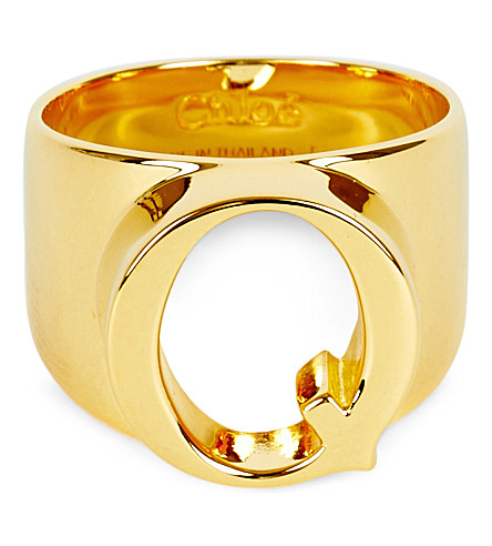 CHLOE Alphabet Q ring (Gold