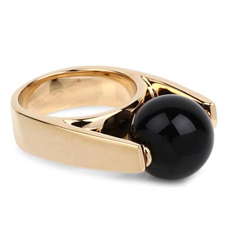 CHLOE Abby ring (Black