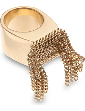 CHLOE Delfine multi chain ring