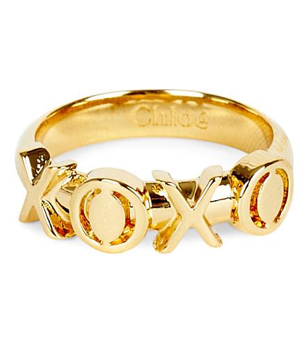 CHLOE XOXO ring (Gold