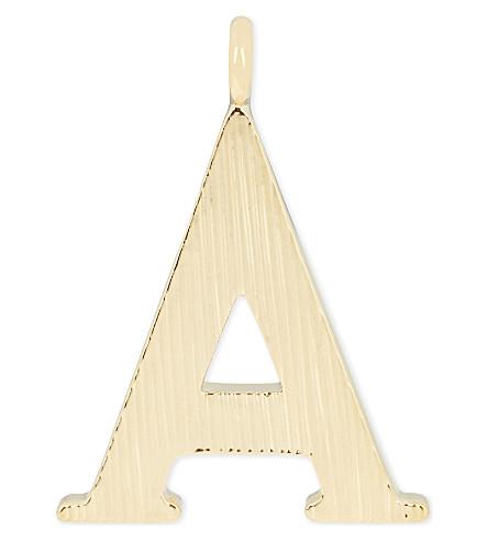 CHLOE Alphabet A pendant (Gold