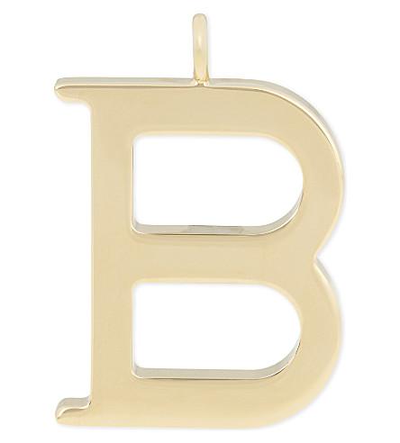 CHLOE Alphabet B pendant (Gold