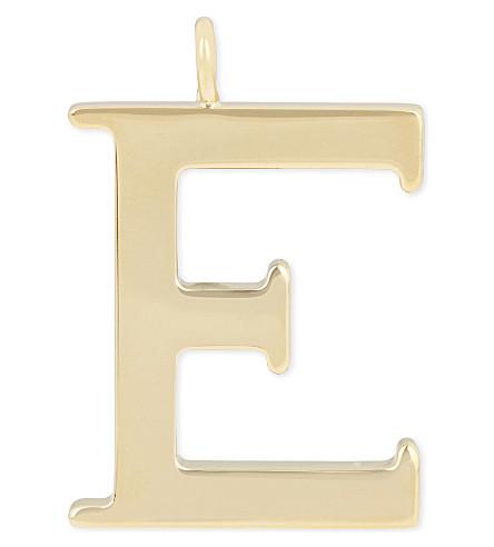 CHLOE Alphabet E pendant (Gold